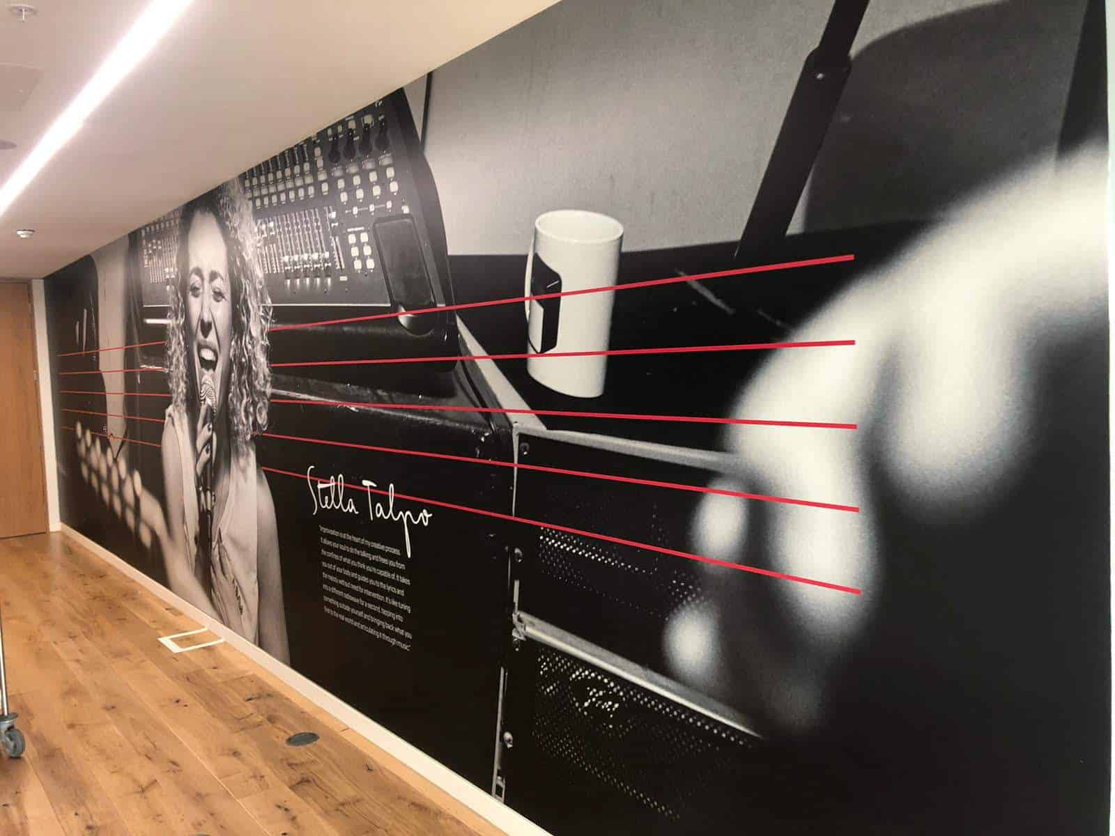Requirement of Glass Manifestation Graphics and Reception Signage in Office